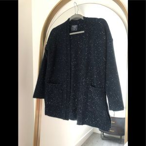 Abercrombie & Fitch Navy Speckled Cardigan